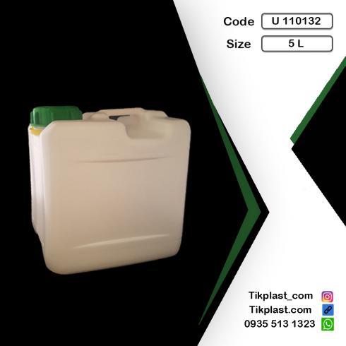قیمت گالن 5 لیتری پلاستیکی پلی اتیلن + درب