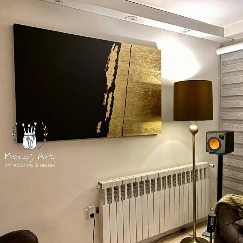 سفارش انواع تابلو نقاشی مدرن و دکوراتیو ورق طلا و اکریلیک