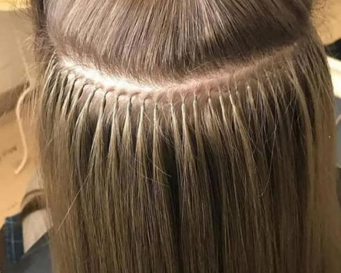 اکستنشن مو با نصب کراتین