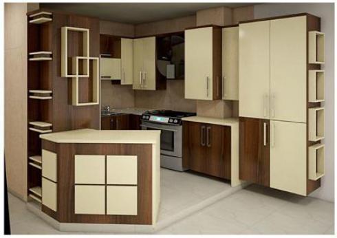 کابینت آشپزخانه , کابینت هایگلاس , دکوراسیون داخلی