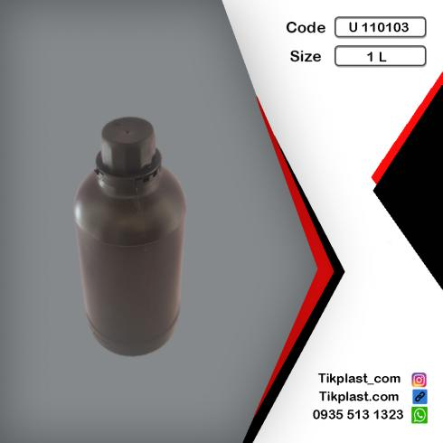 ظرف و بطری پلاستیکی 1 لیتری پلی اتیلن درجه 1 + درب