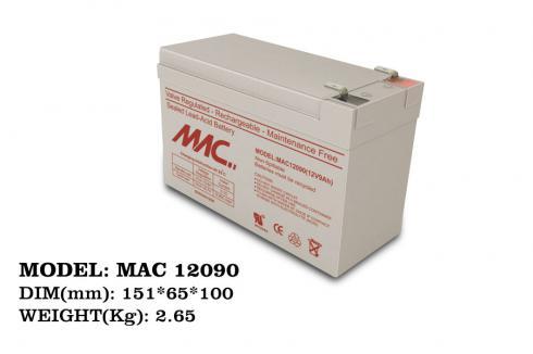باتری 12 ولت سیلد اسید 9 آمپرساعت MAC