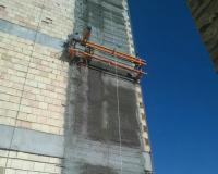 اولین دستگاه سیمانکاری مکانیزه نمای ساختمان