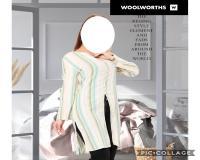 عمده مانتو کتان قواره دار زنانه برند woolworths وارداتی ارزان