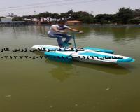 قایق پدالی دوچرخه ای  برای اولین بار در ایران