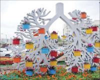 گلدان درختی فایبرگلاس/ زرین کار صفاهان