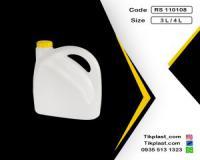 بطری 3 لیتری پلی تیلن پلاستیکی طرح اوه + درب