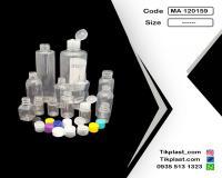 بطری پت استوانه ای دارویی 10 ، 20 ، 30 ، 40 ؛ 50، 60 ، 100 و 200 و 500 سی سی درجه 1