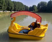 قایق پدالی قو طرح جدید سایبان دار
