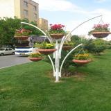 گلدان تزئینی فایبرگلاس برای فضای شهر و فضای سبز