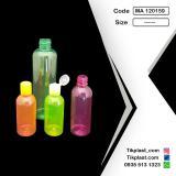 ظرف و بطری پت رنگی استوانه ای 60 ، 100 و 20 سی سی