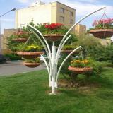 گلدان طبقاتی و درختی فضای شهری