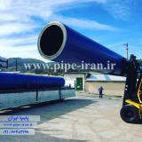 تولید لوله پلی اتیلن سایز 400 میلیمتر