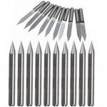 ابزار تراش و حک 3.175 دستگاه CNC دارای زاویه 10 درجه و قطر 0.1mm