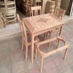 تولید صندلی و میز غذاخوری خام