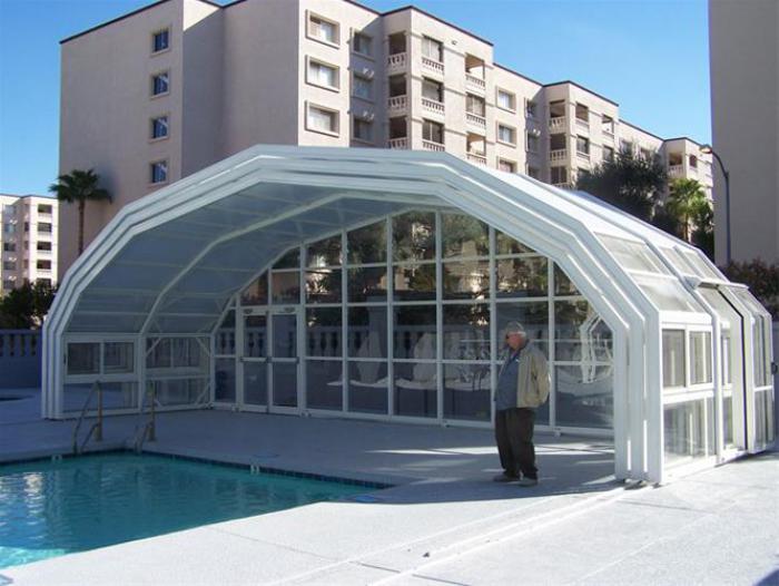 پوشش سقف استخر های رو باز