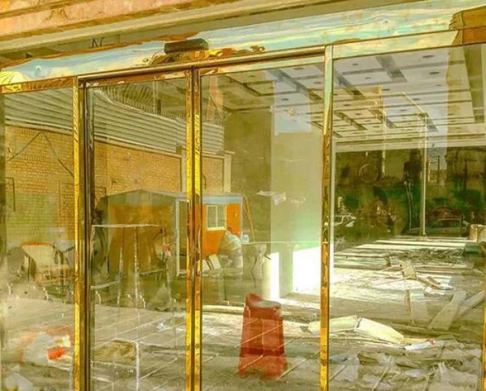 شیشه سکوریت درب اتوماتیک کرکره برقی